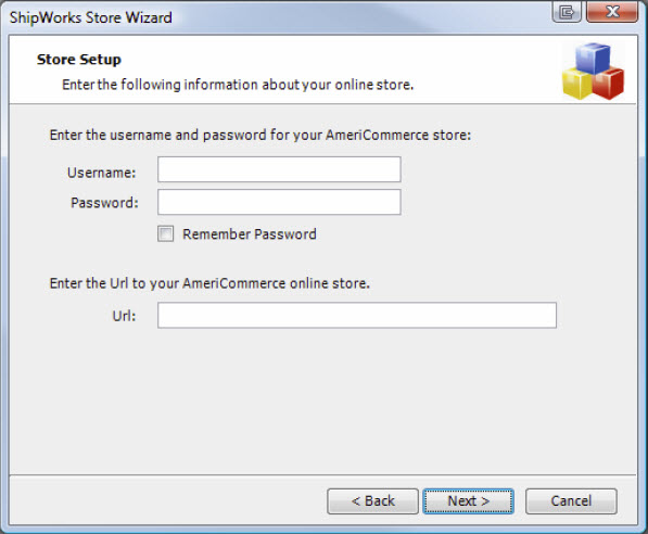Store Wizard Store Access Information Form