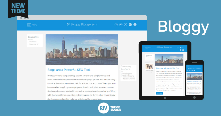 Demo Bloggy Theme - Responsive Ecommerce Theme Using Boostrap and Base Theme for Bloggers