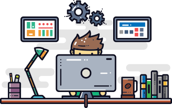 Illustration Of Web Developer