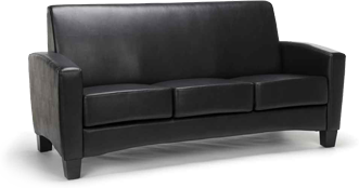 Mellennium Seating Black Leather Couch
