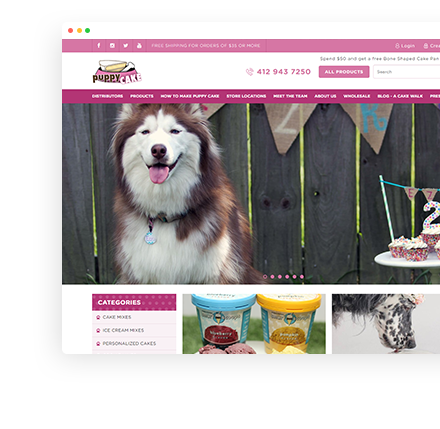 puppycake.com Website Screenshot