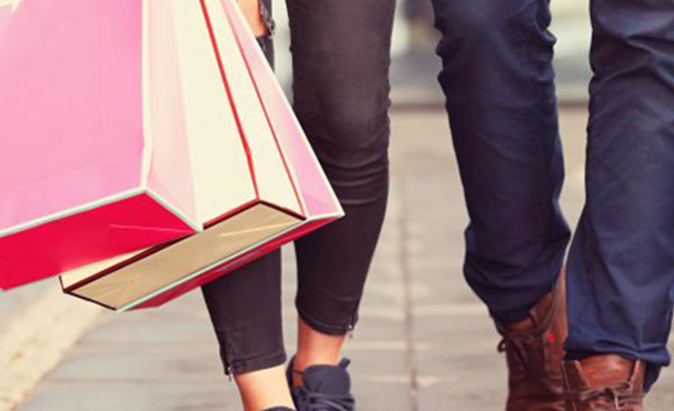 People Walking With Shopping Bags