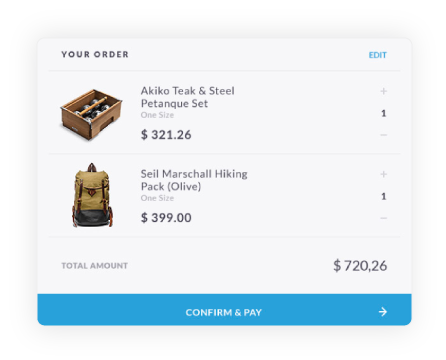 Small Shopping Cart Example