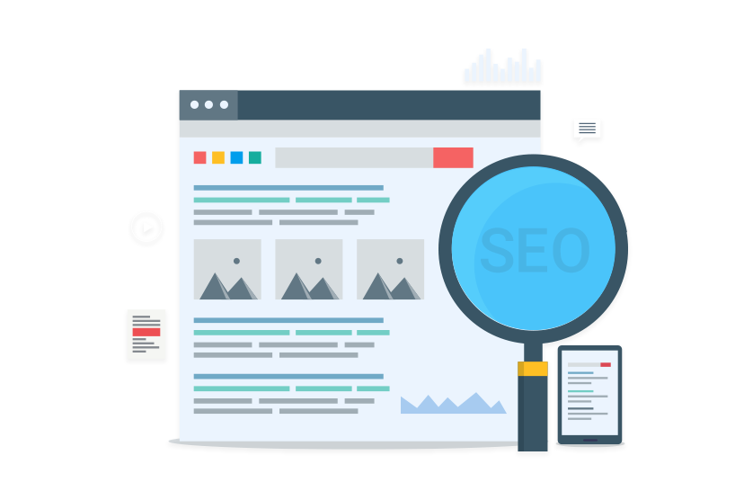 Illustrated SEO Search Graphic