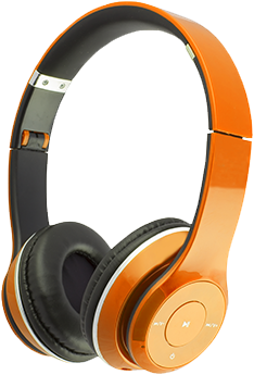 Orange Headphones