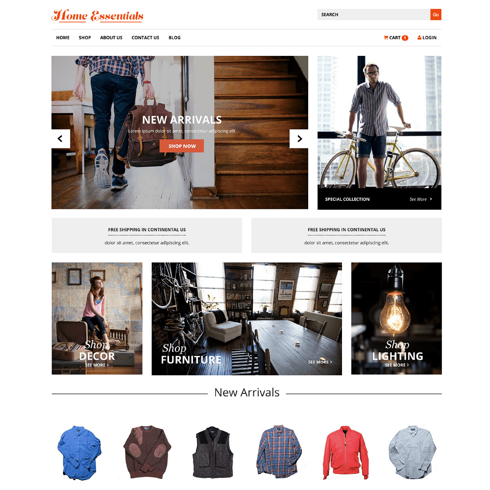HomeEssential Theme, Theme Store, Home Essentials